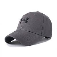Бейсболка Under Armour серая с черным лого