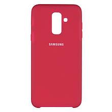 Чехол накладка силиконовый SK Soft Matte HC для Samsung A750 A7 2018 бордовый 42