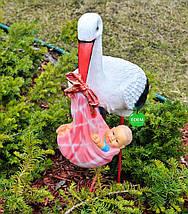 Садовая фигура Семья садовых аистов в гнезде №23, фото 2