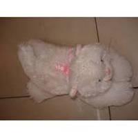 Мягкая игрушка озвученная Кот белый пушистый №3, отличные подарки детям и девушкам , отличный подарок