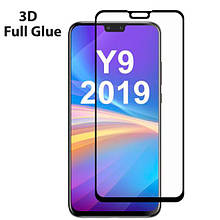 Защитное стекло OP 3D Full Glue для Huawei Y9 2019 черный
