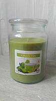 Свічка ароматизована в склі 500 Зелений чай №snd99-83 Свеча ароматизированая в стекле Зелений чай