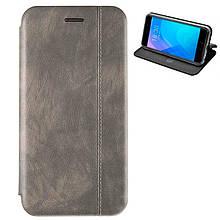 Чехол книжка кожаный Gelius для Huawei Nova 4 серый