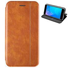 Чехол книжка кожаный Gelius для Samsung G973 S10e золотистый