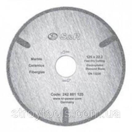 Диск отрезной S&R по мрамору Corona 230, фото 2