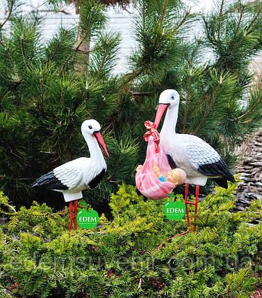 Садовая фигура Семья садовых аистов №25, фото 2