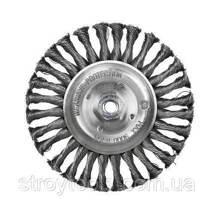 Щетка дисковая S&R, стальная плетенная проволока 115, фото 2