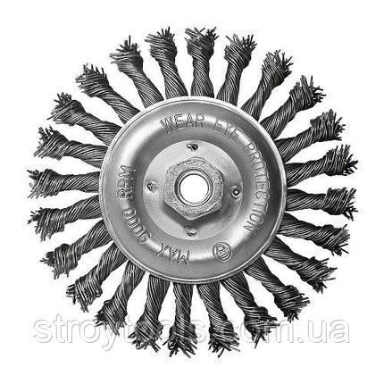 Щетка дисковая S&R, стальная плетенная проволока 150, ворс 0,8мм, фото 2