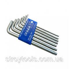 Набір шестигранних ключів S&R TX 7шт в пластиковому кейсі