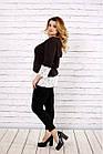 Біла блузка | 0676-2 великого розміру, фото 2