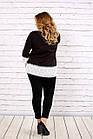Біла блузка | 0676-2 великого розміру, фото 4