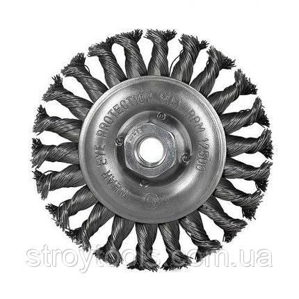 Щетка дисковая S&R, нержавеющая плетенная проволока 125, фото 2