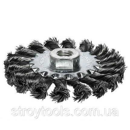 Щетка дисковая S&R 100х22,2 мм, плетенная проволока, фото 2