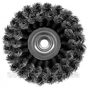 Щетка чашечная прямая двухрядная S&R, стальная плетенная проволока 100, фото 2