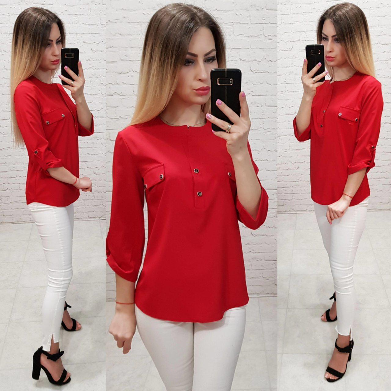 Блузка женская арт 829, цвет красный