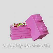 Двухточечный розовый контейнер для хранения Lego 40021739, фото 2