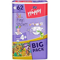 Подгузники Happy Bella 4+ Plus 62 шт Big Pack