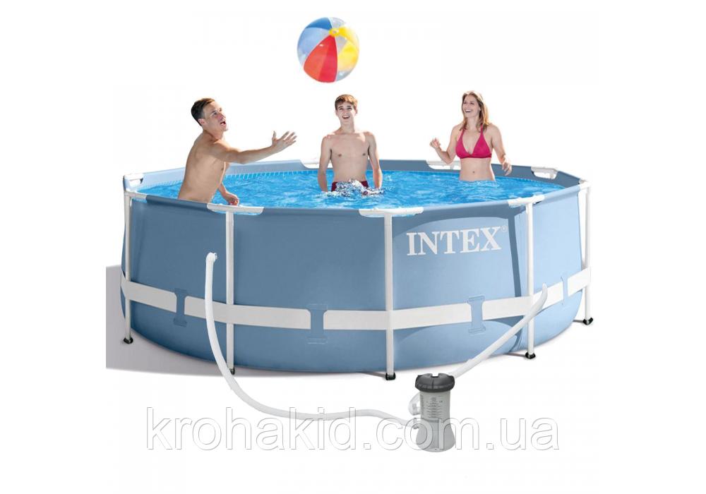 Каркасный бассейн INTEX 26706 NP размер  305*99 cm,  обьем воды 6148 L.