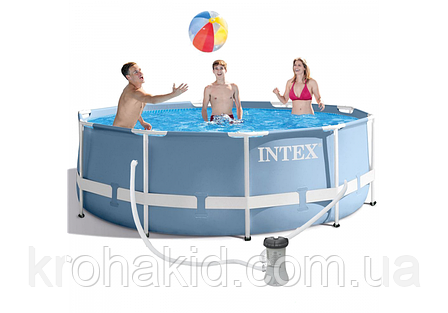 Каркасный бассейн INTEX 26706 NP размер  305*99 cm,  обьем воды 6148 L., фото 2