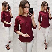 Блузка женская арт 829, цвет бордовый, фото 1