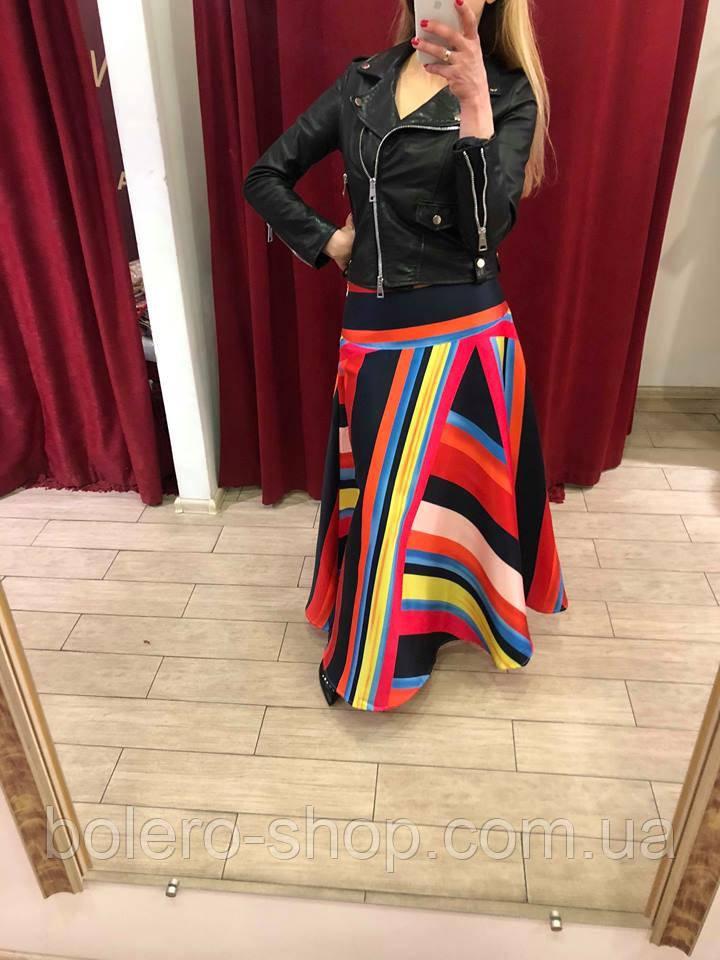 Женская юбка длинная солнце клеш Италия