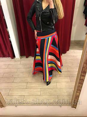 Женская юбка длинная солнце клеш Италия, фото 2