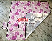 Подстилка (коврик) для пикника 2х2м с водоотталкивающим низом (цвет - розовый) SY-042-1
