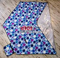 Подстилка (коврик) для пикника 2,2х1,9м шестиугольный с водоотталкивающим низом (цвет - голубой) SY-B06-1