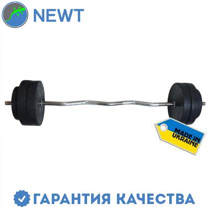 Штанга наборная  Newt Rock 30 кг w-образный гриф, фото 2