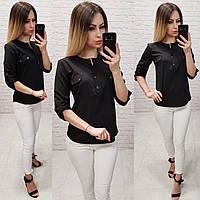 Блузка женская арт 829, цвет черный, фото 1