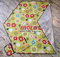 Подстилка (коврик) для пикника 2,2х1,9м шестиугольный с водоотталкивающим низом (цвет - зеленый) SY-B06-2
