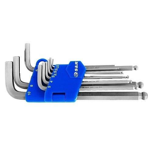 Набор шестигранных ключей 9 шт (1,5-10 мм) S&R (365302109)