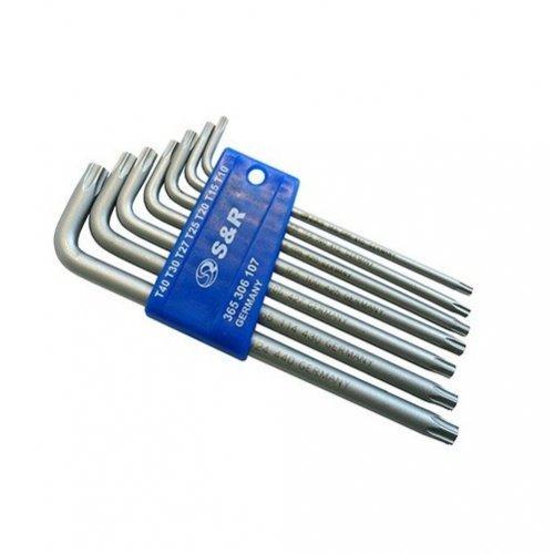 Набор ключей-звездочек T10-40 Cr-V S&R (365306107) 7 позиций