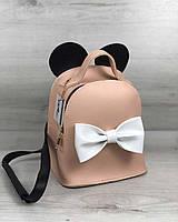 Сумка - рюкзак Микки пудрового цвета, фото 1