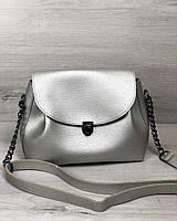 Молодежная сумка Софи серебряного цвета, фото 1