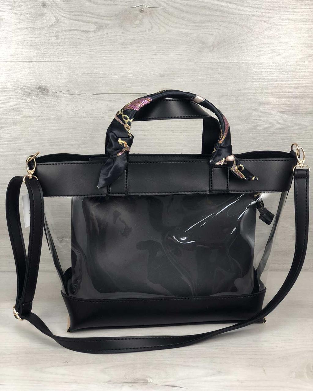2в1 Молодіжна сумка Аміра чорного кольору