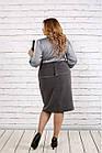 Сталева шовкова блузка великого розміру 42-74.   0750-1, фото 4