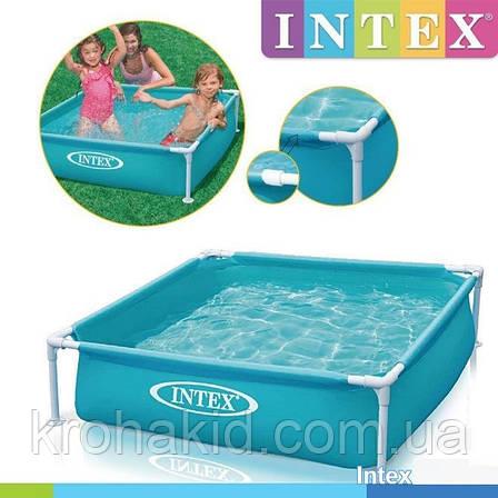 Каркасный детский бассейн INTEX 57173  размер 122*122-30 cm,  обьем воды 340L., фото 2