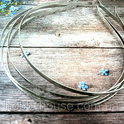 Обруч металлический (5мм) Цвет - серебро .Цена 1 шт