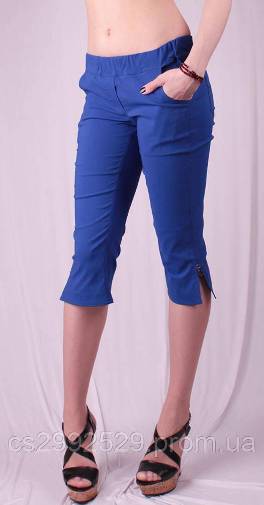 Бриджи женские с разрезами на штанинах, синий