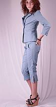 Бриджи женские с разрезами на штанинах, джинс, фото 2