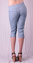 Бриджи женские с разрезами на штанинах, джинс, фото 3
