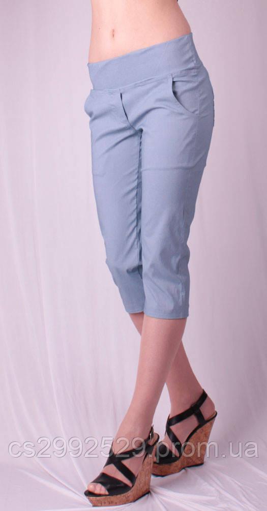 Бриджи женские с карманами, джинс