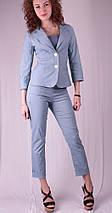 Капри женские с листочкой, джинс, фото 2
