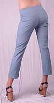 Капри женские с листочкой, джинс, фото 3