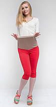 Бриджи для беременных с хлястиками на карманах, коралл, фото 2