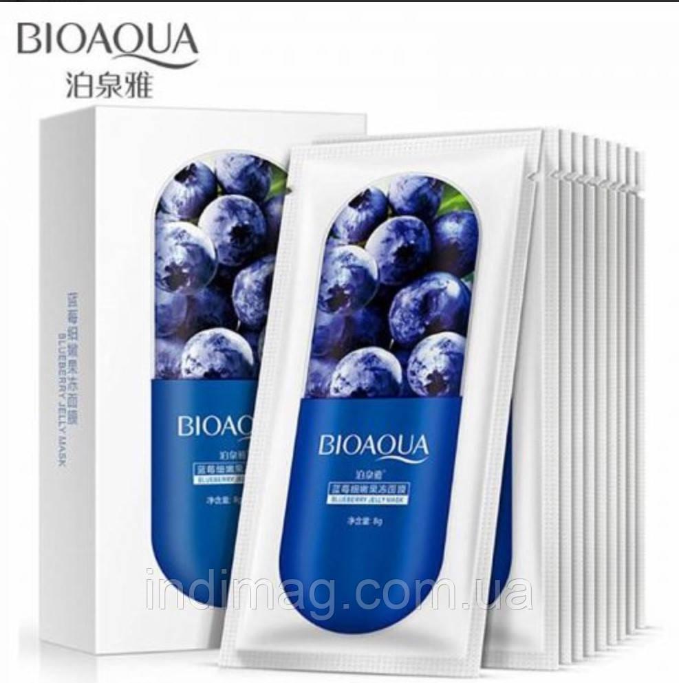 Ночная маска для лица с черникой Bioaqua Blueberry Jelly Mask, 8 грамм