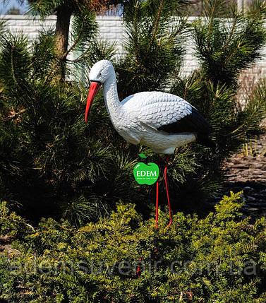 Садовая фигура Аист большой №2 на металлических лапах, фото 2