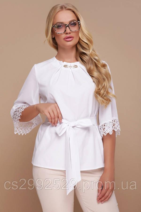 Блуза Карла-Б д/р белый