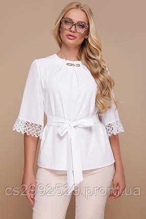 Блуза Карла-Б д/р белый, фото 2